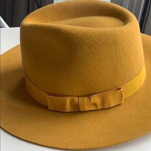 NWOT Mustard Yellow Wool Hat